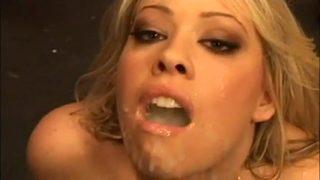 Brooke Scott swallows cum